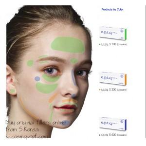 e.p.t.q. Cross-Linked Hyaluronic Acid Dermal Filler S100, S300, S500 LIDOCAINE / 1pcs S.Korea