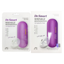 Dr. Smart Wrinkle Regeneration. Anti-aging Face Mask with Collagen Aomi Pack 1box/10pcs