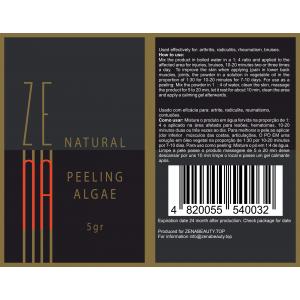 Zena Peeling Algae for face and body 100% natural powder b-tox BIG PACK 1 box/20pcs