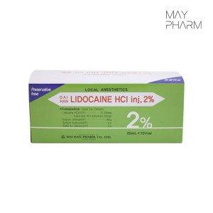 DAIHAN Lidocaine HCI Injections 2% - 20mL x 10Vial S.Korea